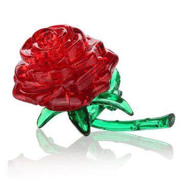 Kristallpusle Punane roos