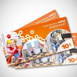 AHHAA Kinkekaart 10 eurot