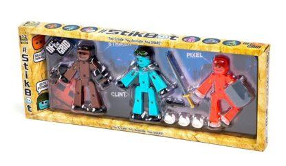 """Stikbot """"Kolm sõdalast: Striker, Clint, Pixel"""""""