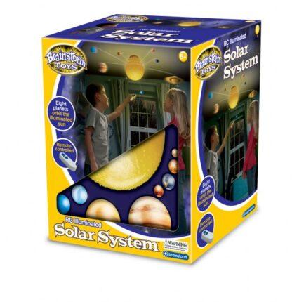 Valgustusega Päikesesüsteem (puldiga juhitav)