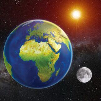 """3D magnet """"Maa, Päike, Kuu"""""""