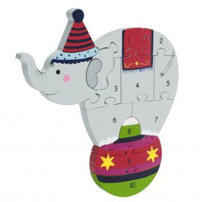 Pusle numbritega Tsirkuse elevant