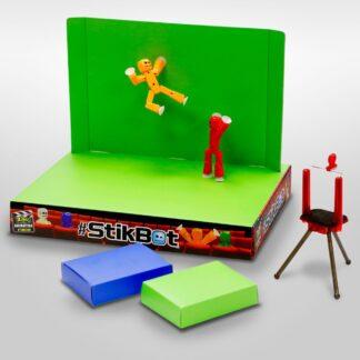 Stikbot green screeniga filmistuudio
