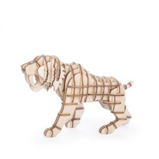 """Kikkerland 3D puidust pusle """"Mõõkhambuline tiiger"""""""